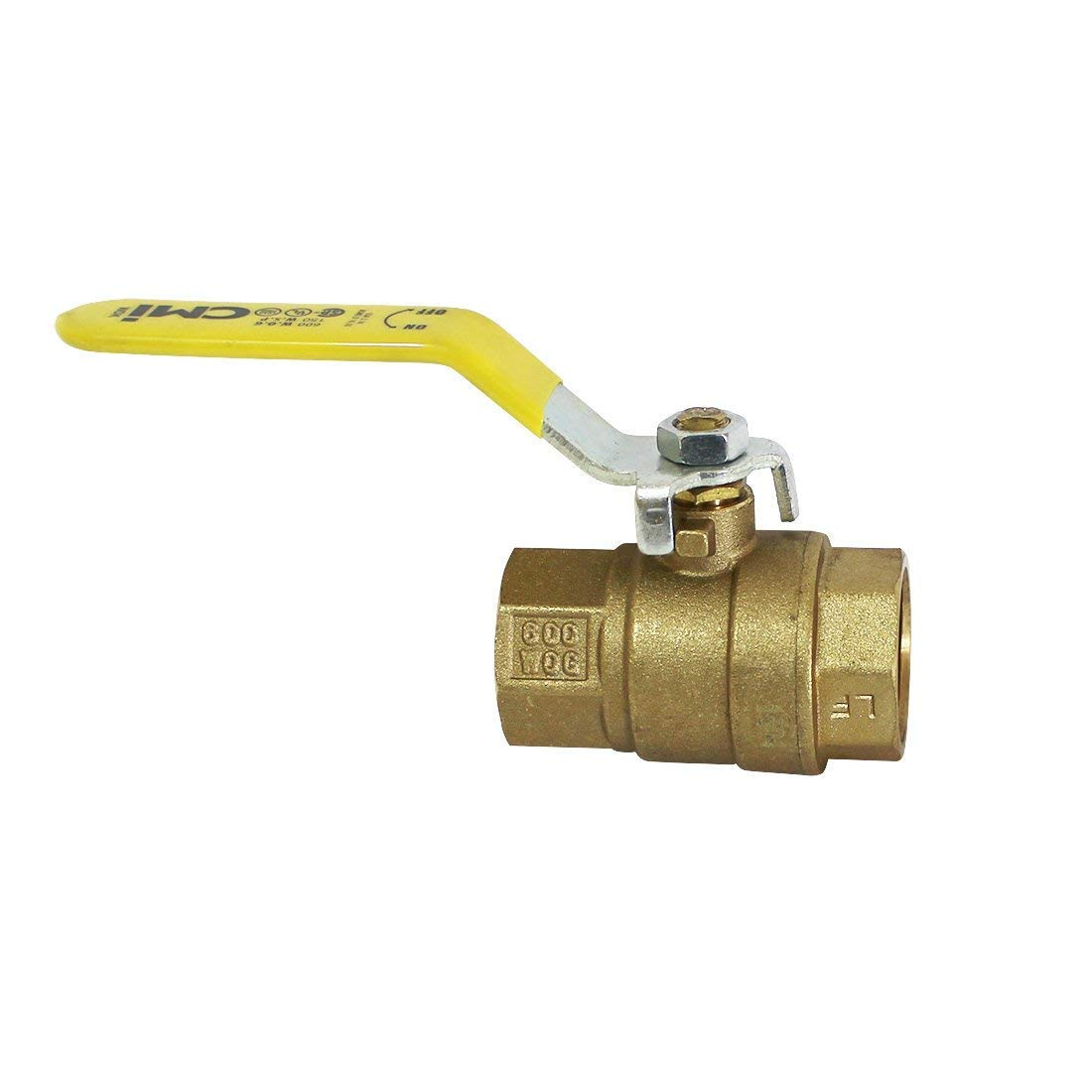 3'' Brass Ball Valve Threaded - IPS Full Port Irrigation Water Valves - Mechanical Lead Free Lever Handle - 3-Inch Female Thread Inline Steam Oil 600 WOG Supplies Hot Cold Pipes CSA Approved 3 Inches