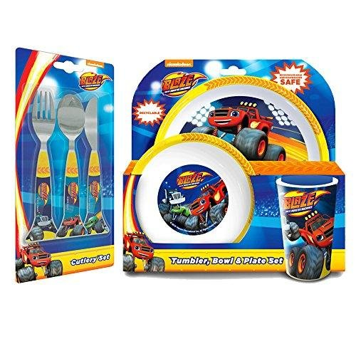 Blaze & The Monster Machines 6 Piece Tableware - Little Tableware Monsters