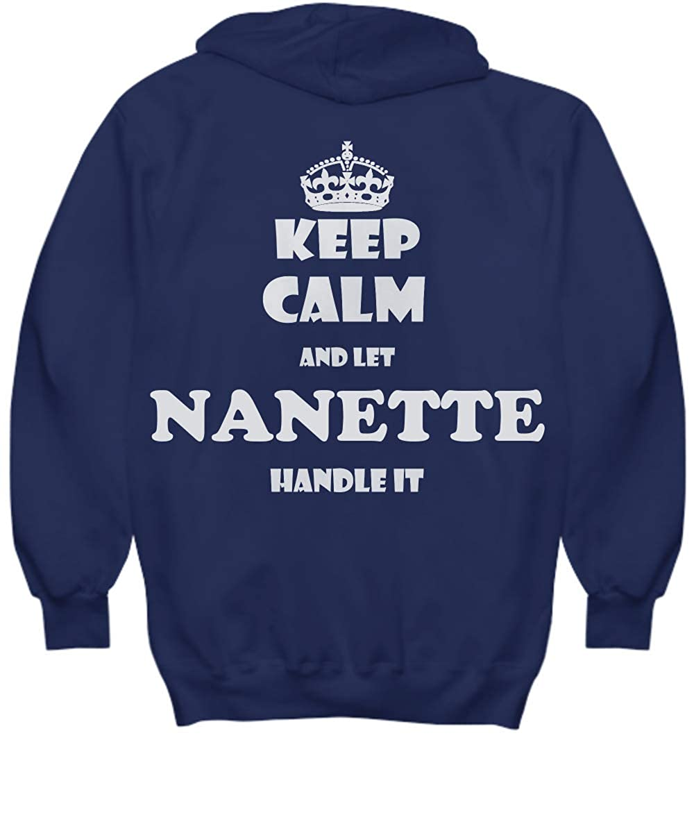 2 Sides Keep Calm and LET Nanette Handle IT with Default Size 2XL White