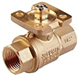 Johnson Controls VG1245CN Stainless Steel NPT Threaded End Connection Two-Way Ball Valves, 11.7 Cv Port, 1'' Size