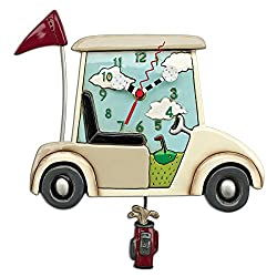 Stay The Course Golf Pendulum Wall Clock