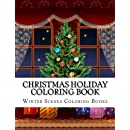 Christmas Holiday Coloring Book Easy Large Print Winter Scenes For Adults Seniors And