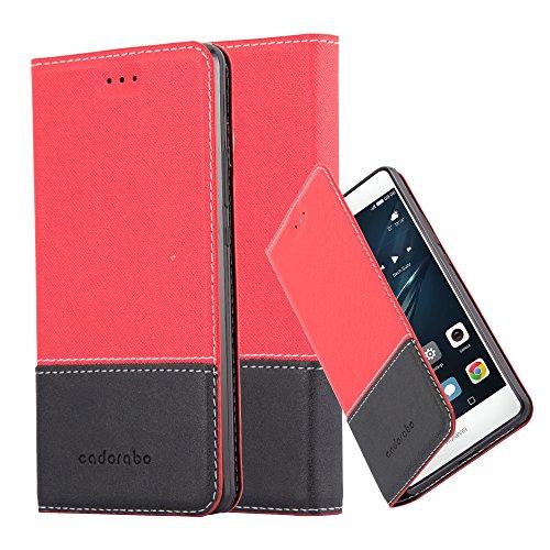 Cadorabo - Funda Estilo Book para >                          Huawei ASCEND P9 LITE                          < de Diseño gamuza-Artificial / Cuero-Artificial con Tarjetero, Función de Soporte y Cierre Magnético Invisible