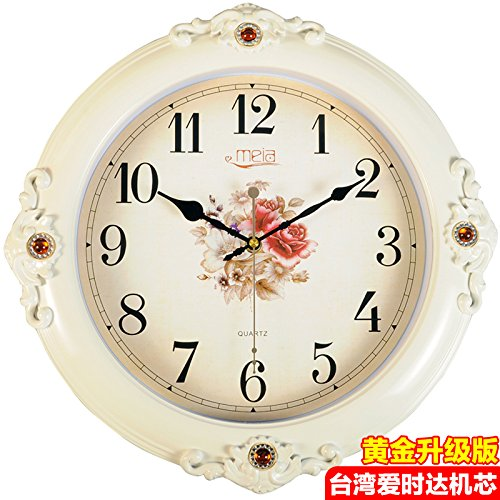 FortuneVin Wall Clock Non-ticking Number Quartz Wall Clock Living Room Decorative Indoor Bedroom Kitchen 16 In Silent, Wall Table Creative Quartz16 India40.5Cm Flower Classic White