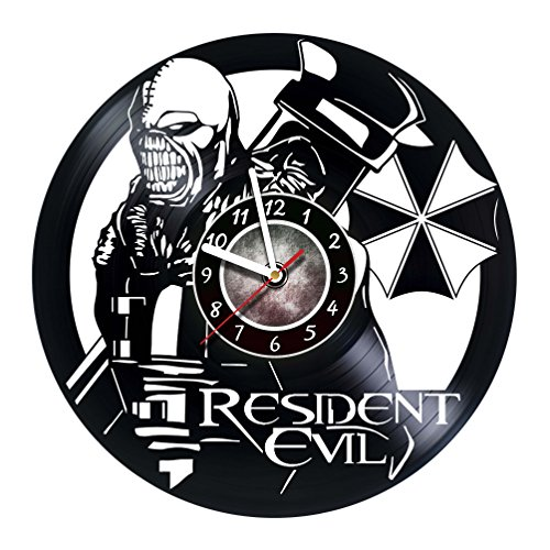 Cheap Iskra Shop Resident Evil Nemesis Zombie Design – vinyl wall clock – handmade artwork home bedroom living kids room nursery wall decor great gifts idea for birthday, wedding, anniversary