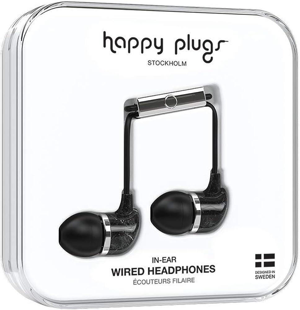 Happy Plugs Unik Headset In Ear Marmor Saint Laurent Elektronik
