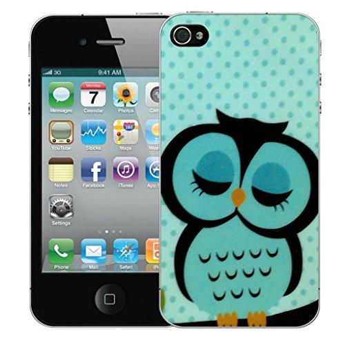 Mobile Case Mate iPhone 5 5s Concepteur Dur IMD coque Affaire Couverture Case Cover Pare-chocs Coquille - Sleepy Blue Owl Modèle