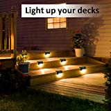 Solpex Solar Deck Lights Outdoor 16 Pack, Solar