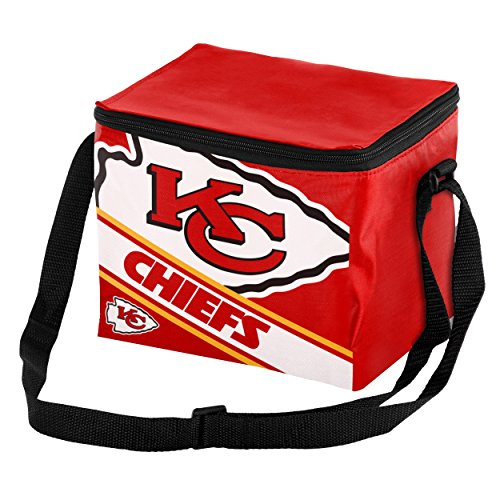 Kansas City Chiefs Big Logo Stripe 6 Pack (Kansas City Chiefs Lunch Box)