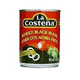La Costena Refried Black Beans, 19.2 OZ (Pack of 6)