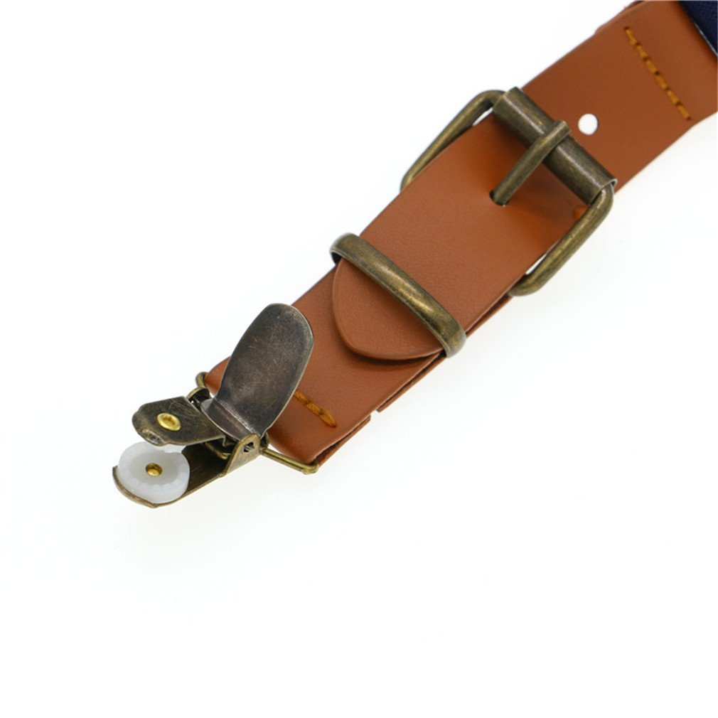 Love Leather Shape Kids Suspender Bow Tie Ring Bear Boy Packed Gift Adjustable 12 by ADJES (Image #6)