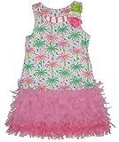 Kate Mack Girl's 7-16 Island Hopping Dress, Multicolored - 12