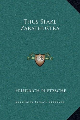 Read Online Thus Spake Zarathustra pdf epub