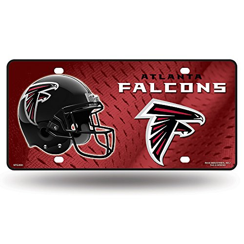 Rico NFL Atlanta Falcons Metal License Plate Tag