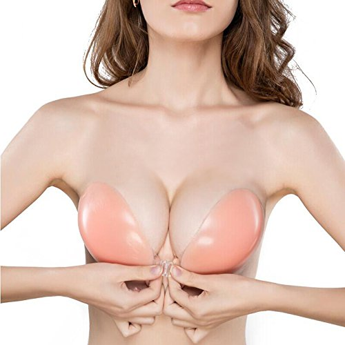 d60ac591ccb7a Komene Strapless Self Adhesive Silicone Push-up Pink Bra 2018 New B - Buy  Online in UAE.