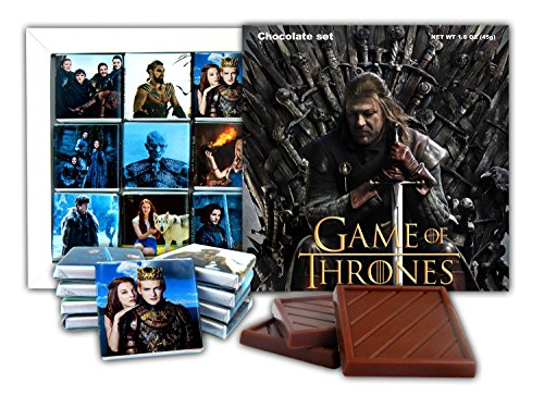 DA CHOCOLATE Souvenir Candy GAME OF THRONES Chocolate Gift Set Famous TV series design 5x5in 1 box - Jerome Natalie