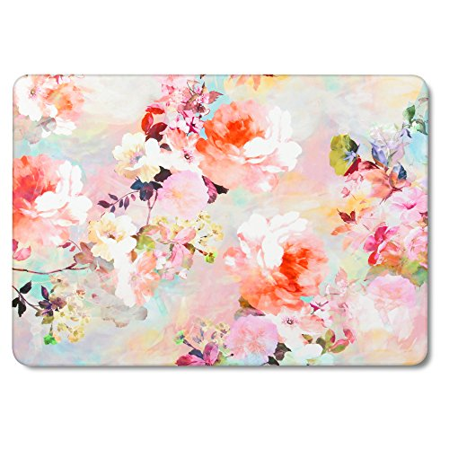GMYLE Vintage Flower Pattern Soft-Touch Matte Plastic Hard Case Cover Print for Old MacBook Pro 13 inch with Retina Display (Model: A1425 and A1502) Without CD-ROM Drive [2012-2015 Release]