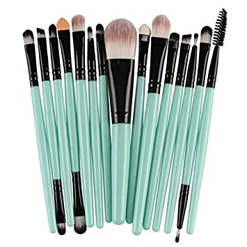 Amazon.com: Laliva 15Pcs 7 colors Makeup Brushes Set brochas ...