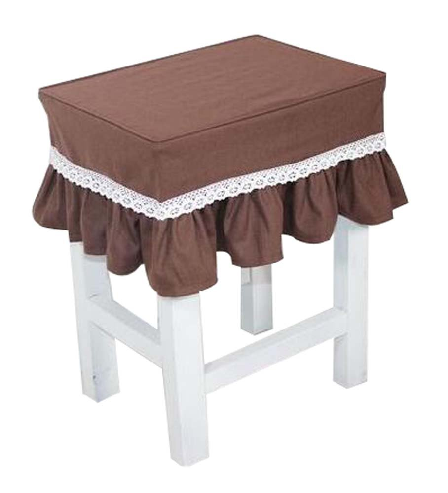 Black Temptation Cotton Canvas Stool Cover Makeup Stool Cover Coffee