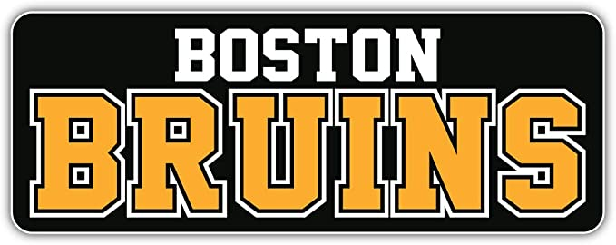 hotprint Bruins Hockey Boston Sticks Sport Car Bumper Sticker Decal 5 X 4