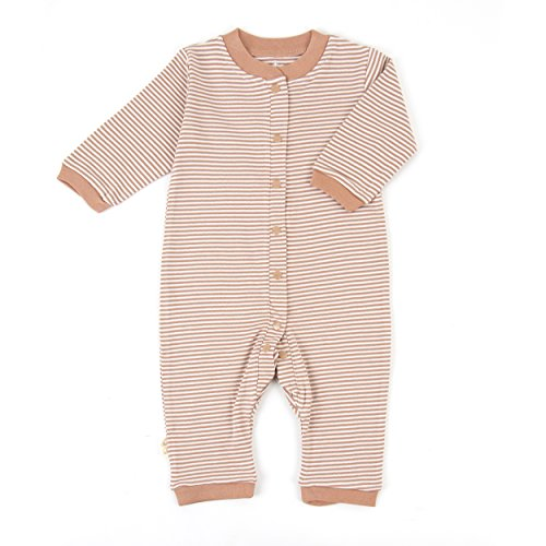 Tadpoles Organic Double Knit Cotton Footless Snap Front Romper, Cocoa, 0-3 ()