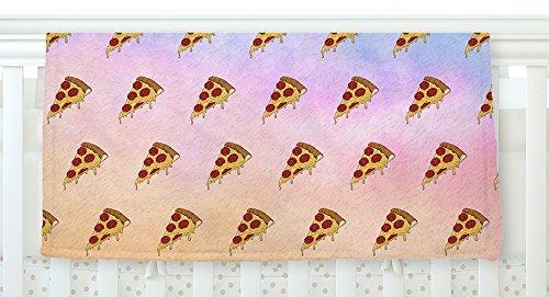 KESS InHouse Juan Paolo Lucid Pizza Food Pattern Fleece Baby Blanket 40 x 30 [並行輸入品]   B077Z37R4W