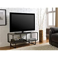 Metro Shop Emmett Gunmetal Grey TV Stand-Sonoma Oak/Gunmetal Grey