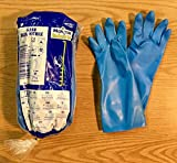 Marigold Gloves Nitrile Rubber Textured Size 7-1/2 Medium G25B 12 Pairs