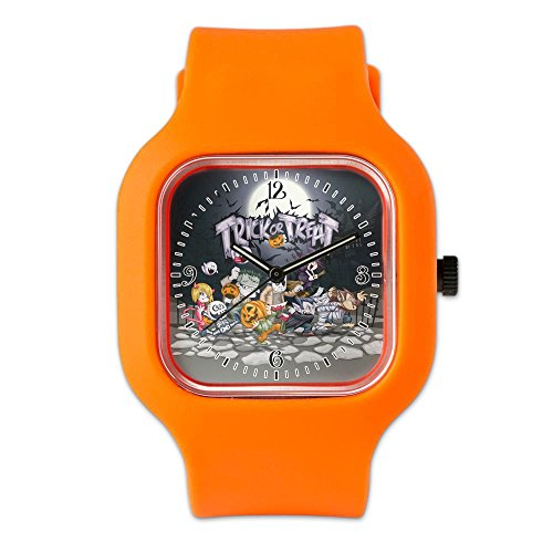 Orange Fashion Sport Watch Halloween Trick or Treat Costumes