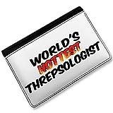 RFID Passport Holder Worlds hottest Threpsologist, Cover Case / Wallet - Neonbl