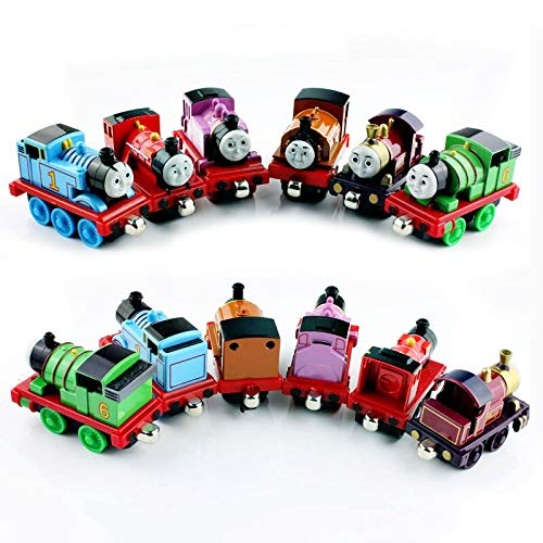 - Greensun 6pcs/lot Kids's Thomas and Friends Trains Mini Major The Steam Team Engines Tank Magnetic Duke Percy Mike Lady Diecast Model Toy