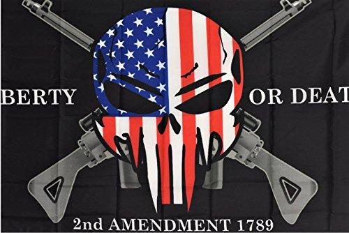 3x5 Liberty or Death 2nd Amendment USA Demon