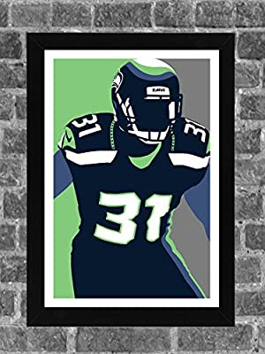 Seattle Seahawks Kam Chancellor Portrait Sports Print Art 11x17