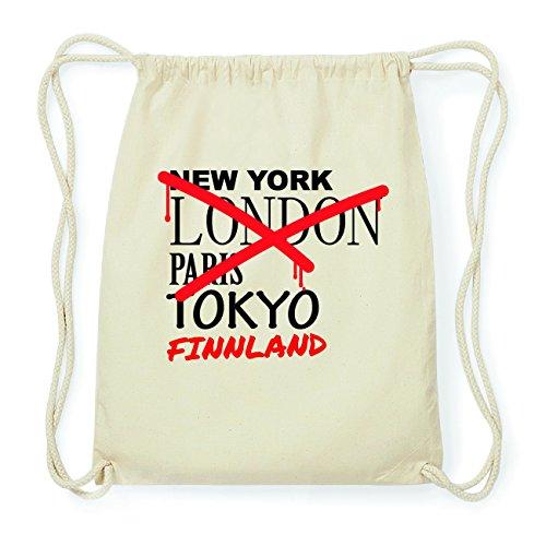 JOllify FINNLAND Hipster Turnbeutel Tasche Rucksack aus Baumwolle - Farbe: natur Design: Grafitti HqeijlaQ