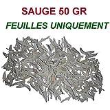 Sauge Blanche sèche de californie - FEUILLES UNIQUEMENT - 50 gr - Pour Fumigation et Purification