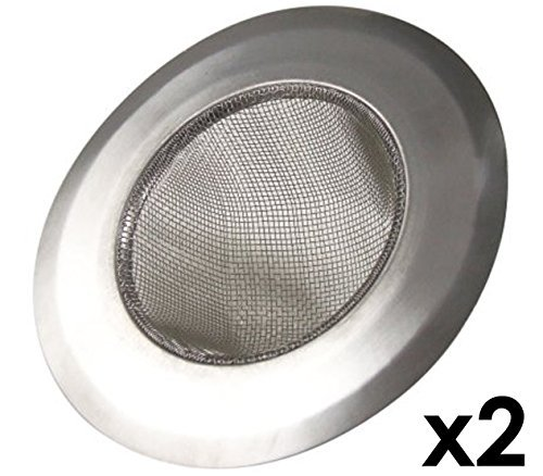 - Stainless-Steel Kitchen Sink Strainer - Set of 2 - Large Wide Rim 4.25 Diameter - Perfect for Kitchen Sinks Model: (Hardware & Tools Store)
