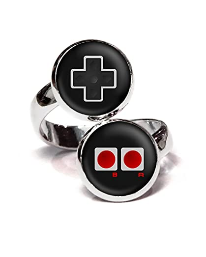 Nintendo Ring Super NES Controller Jewelry SNES Gaming Adjustable Mario Luigi Zelda