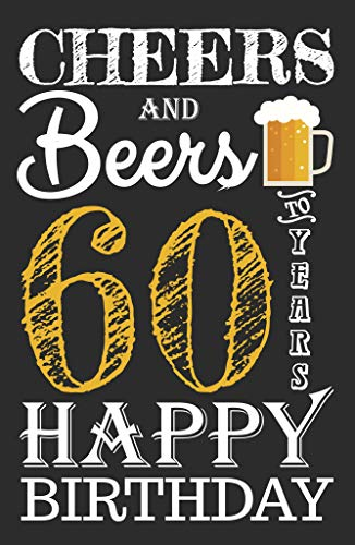 Cheers & Beers to 60 Years Birthday Poster- 11x17