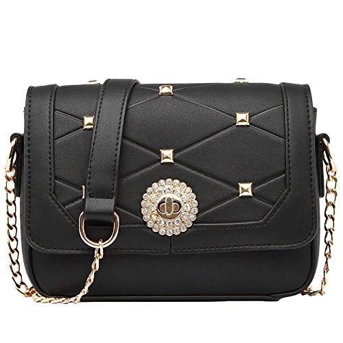 MYLL Women's Shoulder Ladies KhakiGreen Messenger Bag Bag Classicblack Chain Wild Simple fSfqwFBp