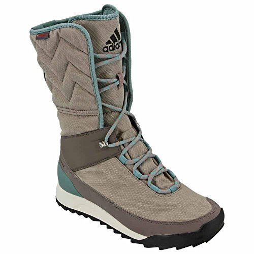 adidas outdoor Women's CW Choleah High CP Leather Snow Boot, Vapour Grey/Black/Tech Earth, 7.5 M US by adidas outdoor