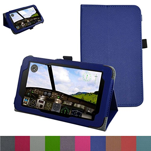 Alcatel OneTouch Pixi 7 Case,Mama Mouth PU Leather Folio 2-folding Stand Cover for 7