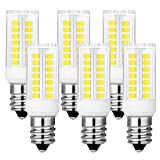 KINDEEP Dimmable E12 Candelabra LED 40W Halogen Replacement Daylight 6000K T3/T4 Candelabra Base E12 Bulb for Ceiling Fan, Chandelier, Indoor Decorative Lighting (Pack of 6)