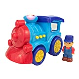 Boley Toy Train for Toddlers- Light and Sound train with 3 button electric toy train siren with flashing lights