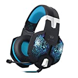 Bengoo Stereo PC Gaming Headset 7 Colors Breathing LED Light Over-ear Headphones with Microphone
