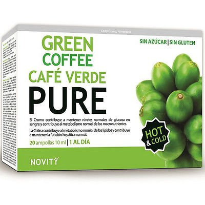 DietMed Green Coffe Pure 20 ampollas: Amazon.es: Salud y cuidado ...