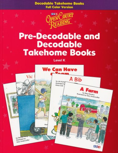 Open Court Reading Pre-Decodable and Decodable Takehome Books Level K