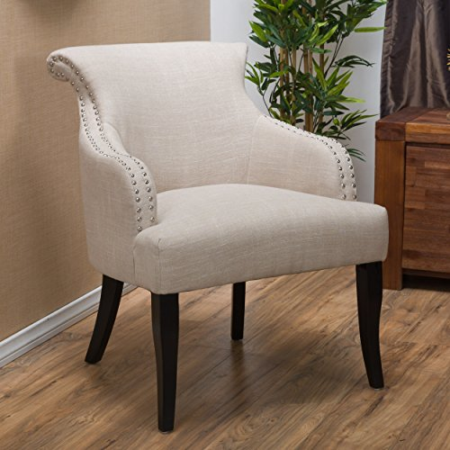 Christopher Knight Home 296635 Filmore Fabric Arm Chair, Light Beige
