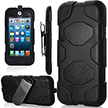 iPod Touch 6th Generation Case,iPod Touch 5 Case, Jwest Hard Protective Case with Belt Clip Holster Cover for Apple iPod Touch 5 6th Generation Black