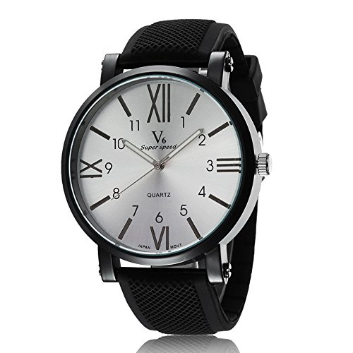 Man, quartz watch, fashion, personality, sports, silica gel, - Fashion Plaza Mall