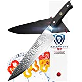 """DALSTRONG Chef's Knife - 10.25"""" - Large - Shogun Series X Professional Gyuto - Japanese VG10 67-Layers - Hammered Finish - Sheath"""
